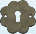 Sleutelrozet messing brons ijzer