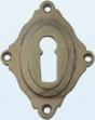 Sleutelrozet nikkel mess brons ijz