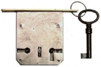 meubelslot insteek zwaar 15mm l-r met sleutel